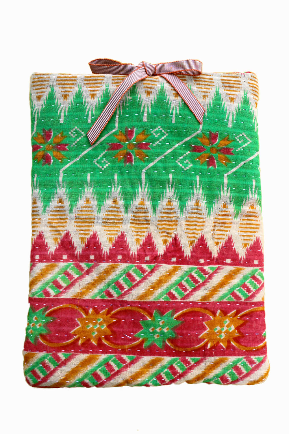 Designer quilted kantha iPad cover - Maya