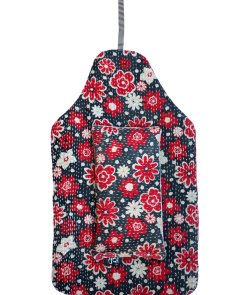 Beautiful soft quilted kantha hot water bottle covers - Daisy