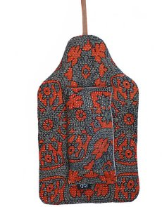 Beautiful soft quilted kantha hot water bottle covers - Blackberry