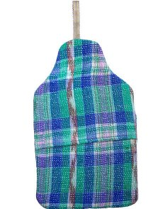 Beautiful soft quilted kantha hot water bottle covers -Bluebell