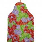 Rose 1 hot water bottle cover - back