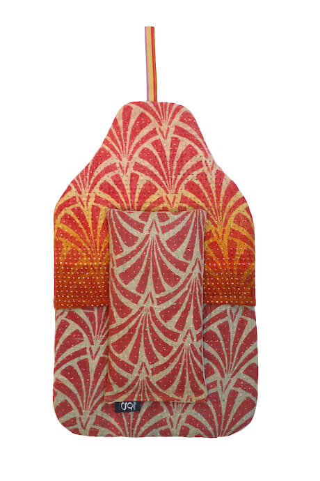 Beautiful soft quilted kantha hot water bottle covers - Acanthus