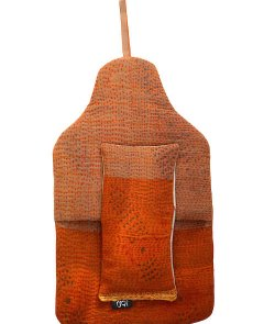 Beautiful soft quilted kantha hot water bottle covers - Marigold