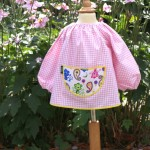Pink Gingham smock - Cheeky Monkey