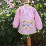 Pink Gingham smock - Wise Owls