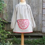 Traditional children's cotton art smock - Christmas