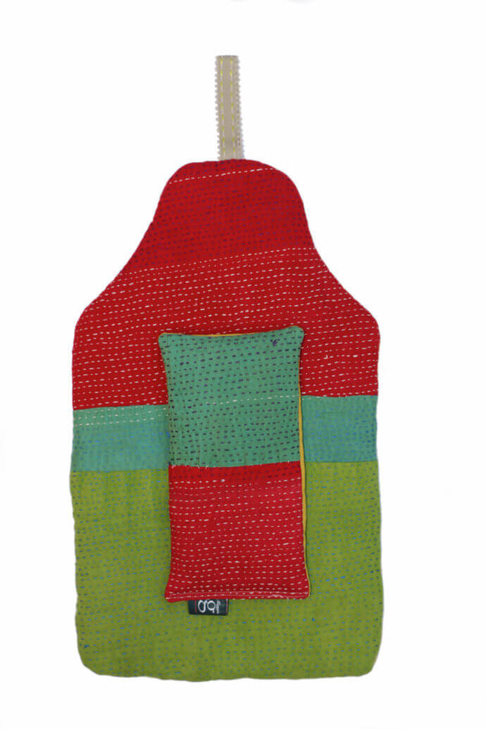 beautiful soft quilted kantha hot water bottle covers