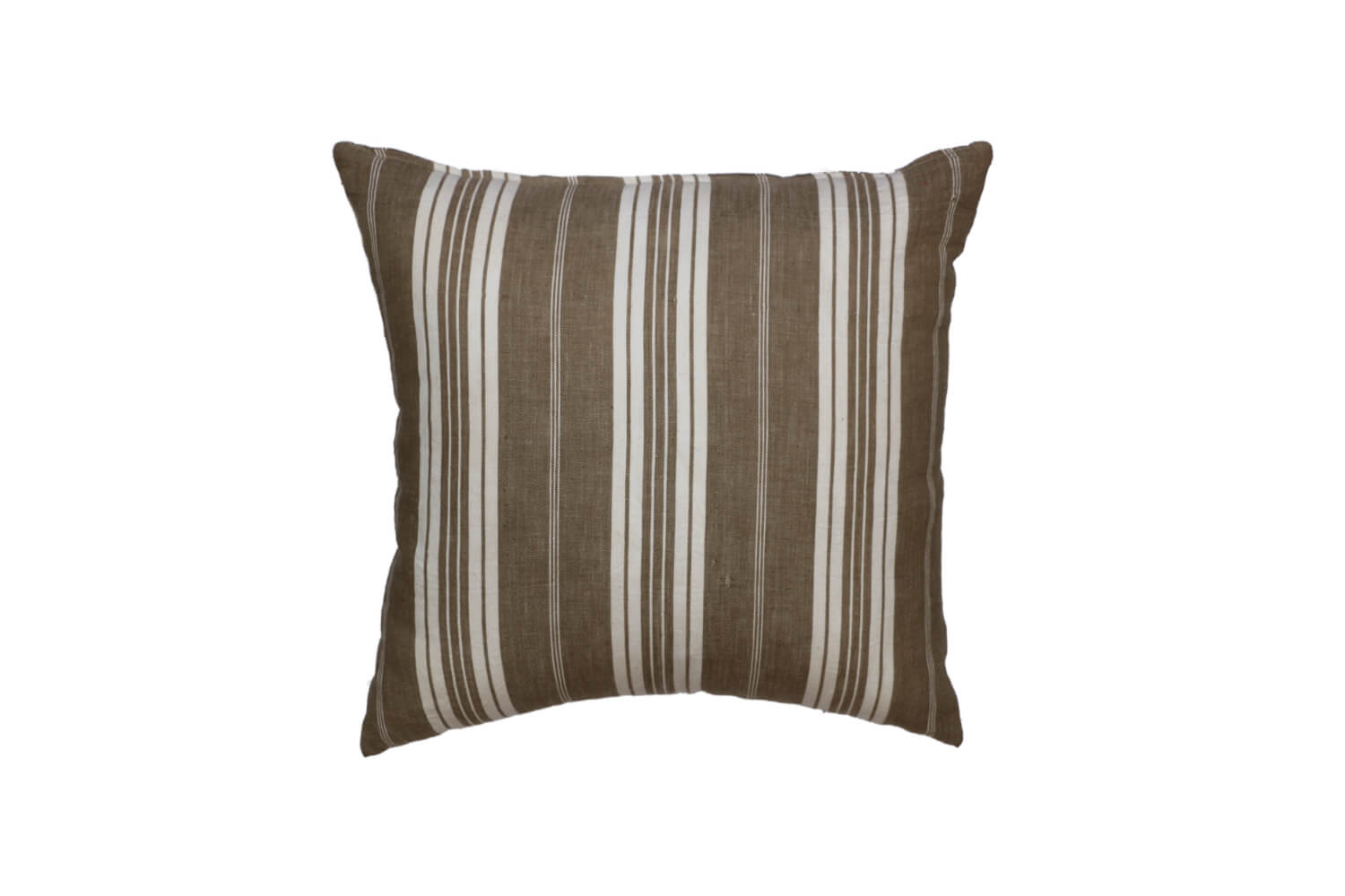 Taupe Stripe Cushion 2 - front and reverse