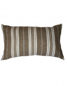 Taupe Stripe Cushion 1 - front and reverse