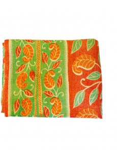 Paprika hand stitched quilted bedspread