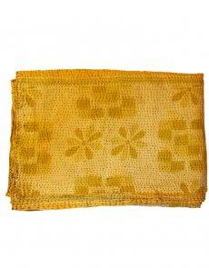 Saffron hand stitched quilted bedspread